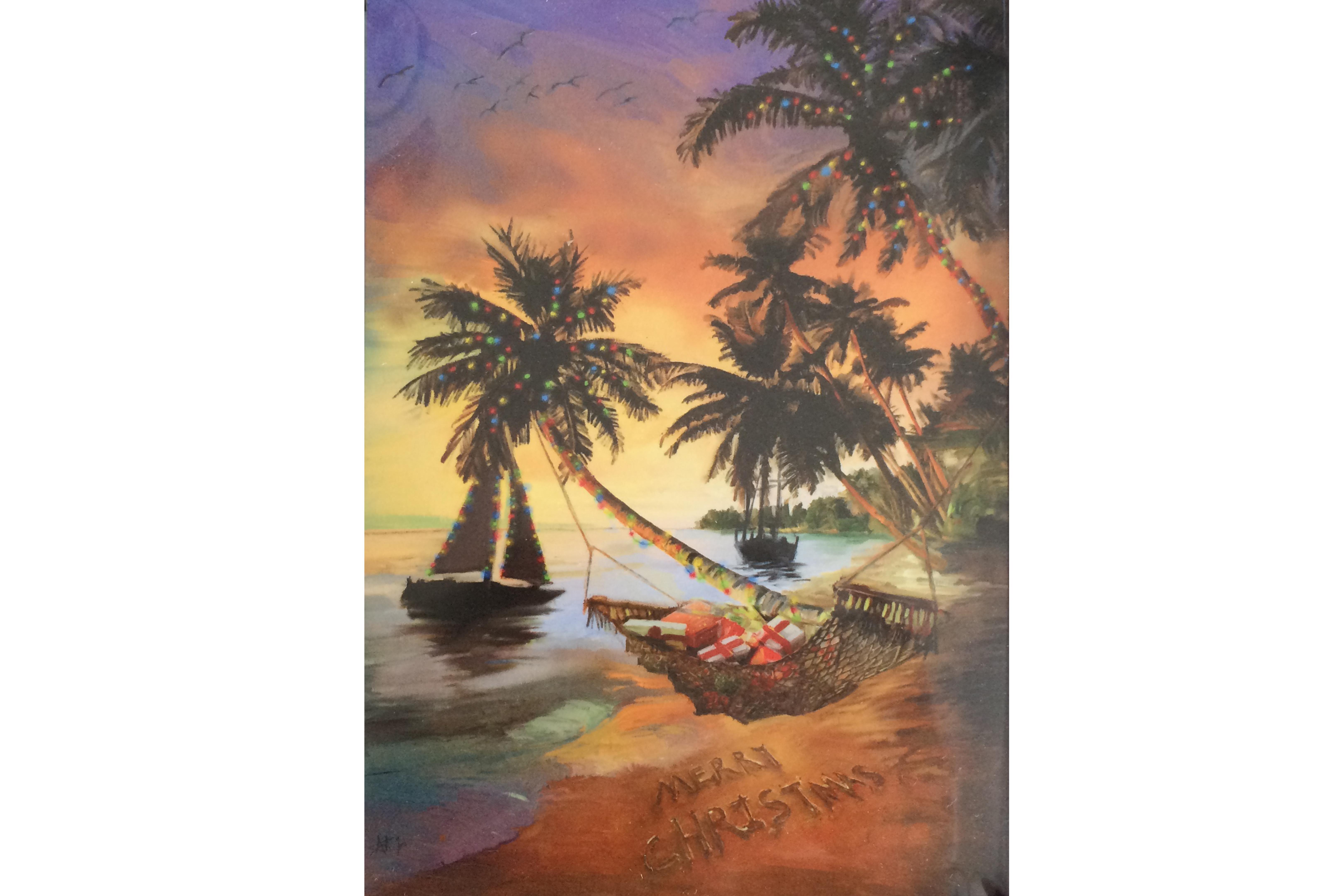 Tropical christmas cards