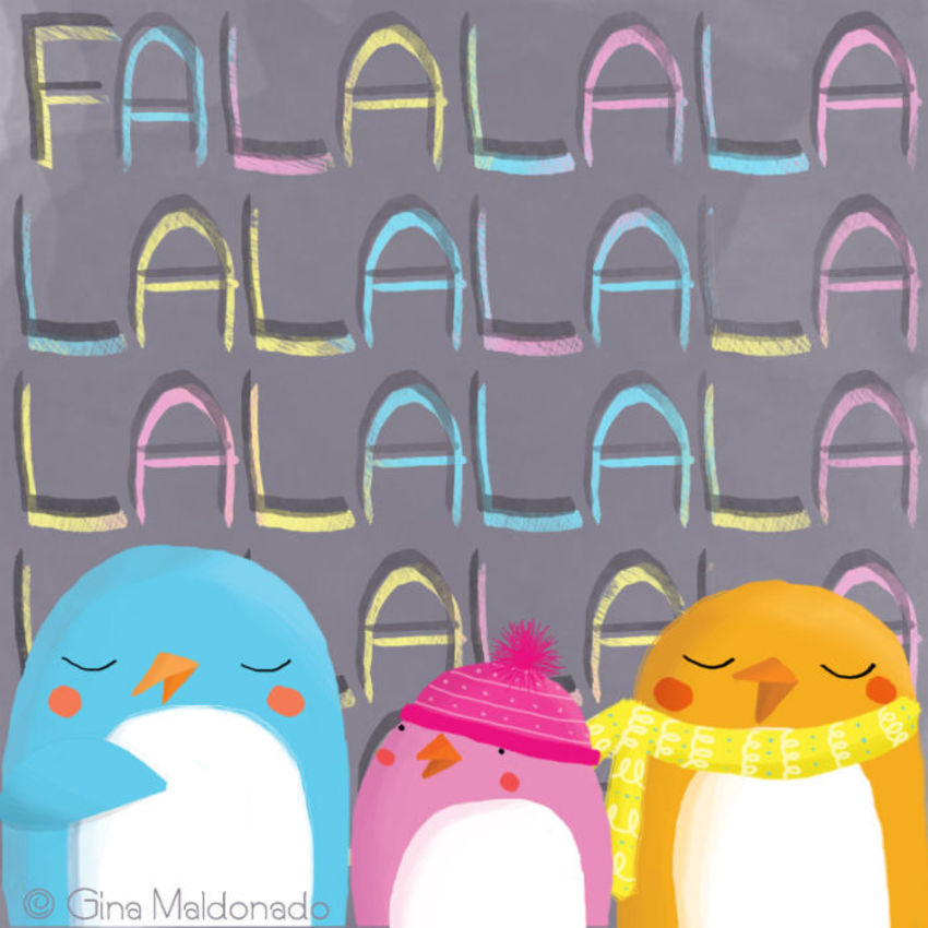 Falalalala Card - GM
