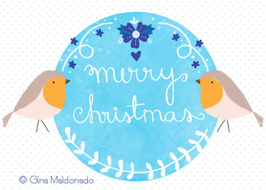 Merry Christmas Card - GM