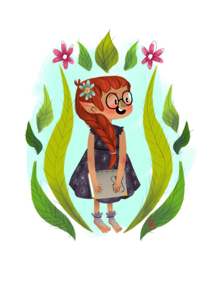 Book Elf Girl