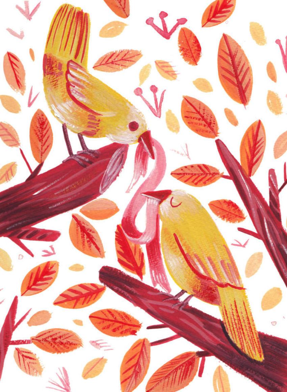 Birds Gouache