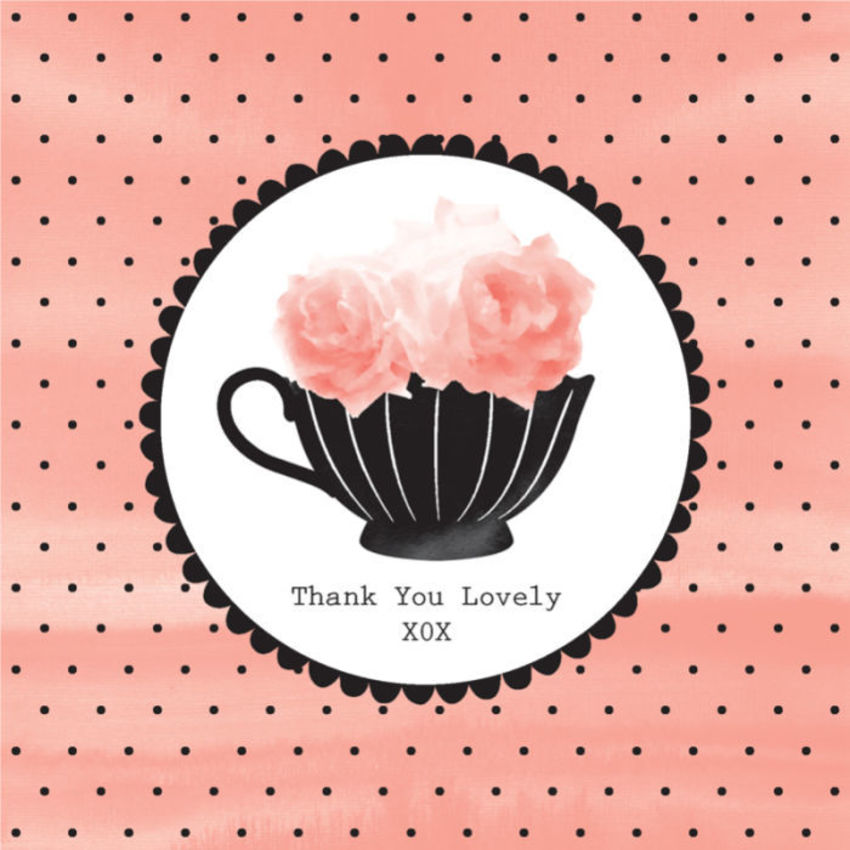 Female Birthday Mothers Day Thank You Get Well Teacup With Flowers