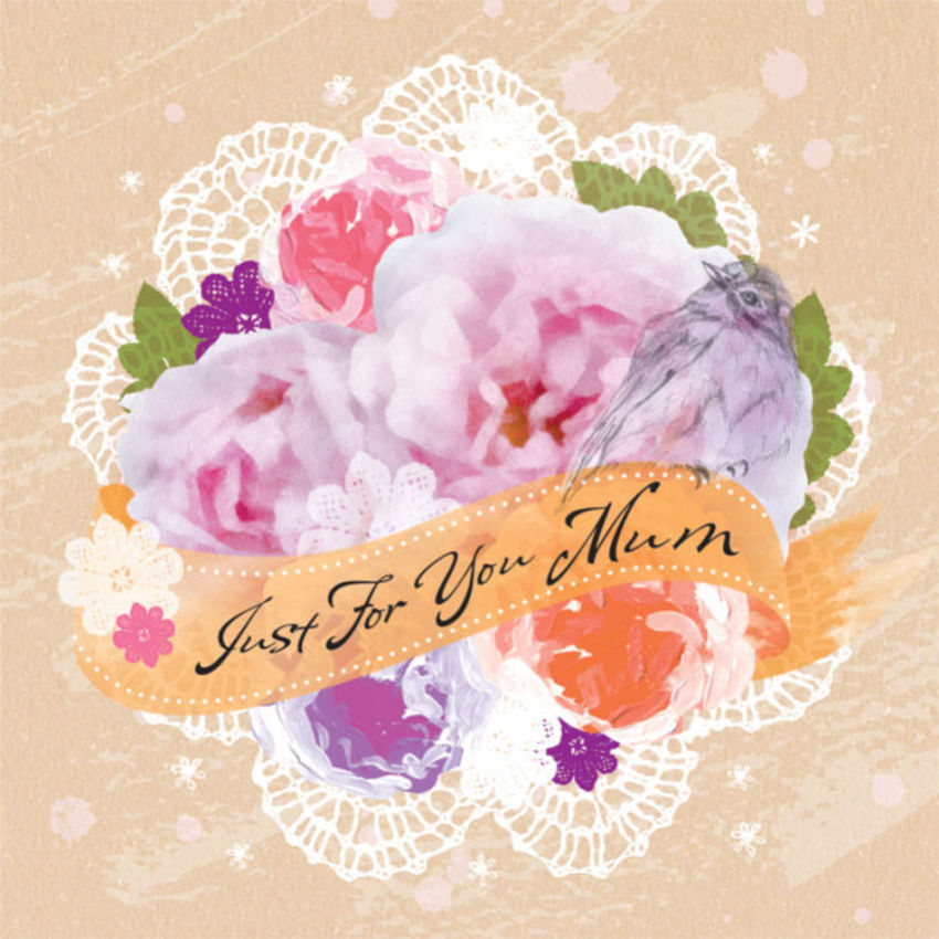 Female Birthday Mothers Day Thinking Of You Floral Thank You Bird With Flowers