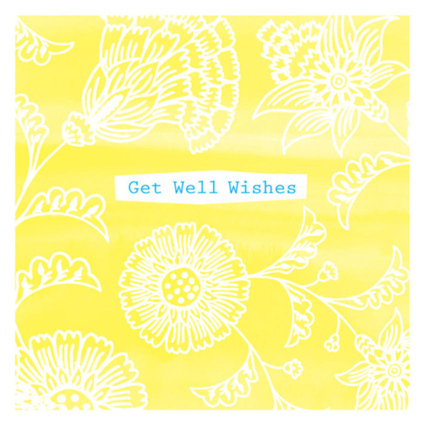 Get Well Soon Wishes Thinking Of You Thank You Female Birthday Flowers Floral Background Contemporary 1