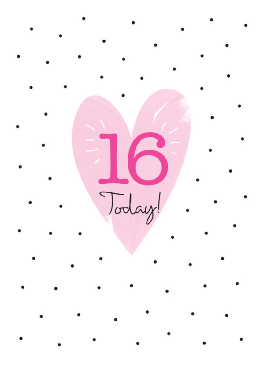 Love Valentines Day Milestone Age Birthday Big Number Pastel Love Heart And Polka Dots