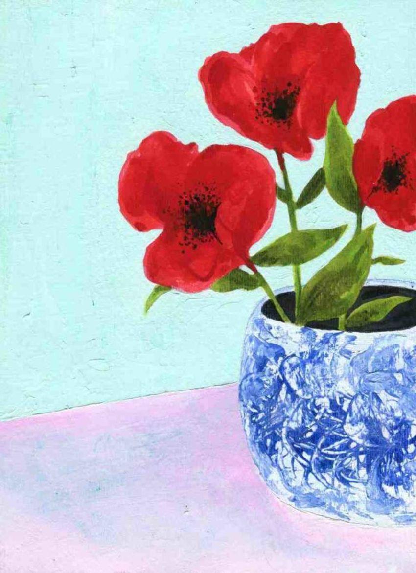 Poppies On Mint LQ JPEG
