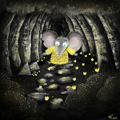 glowing-mouse