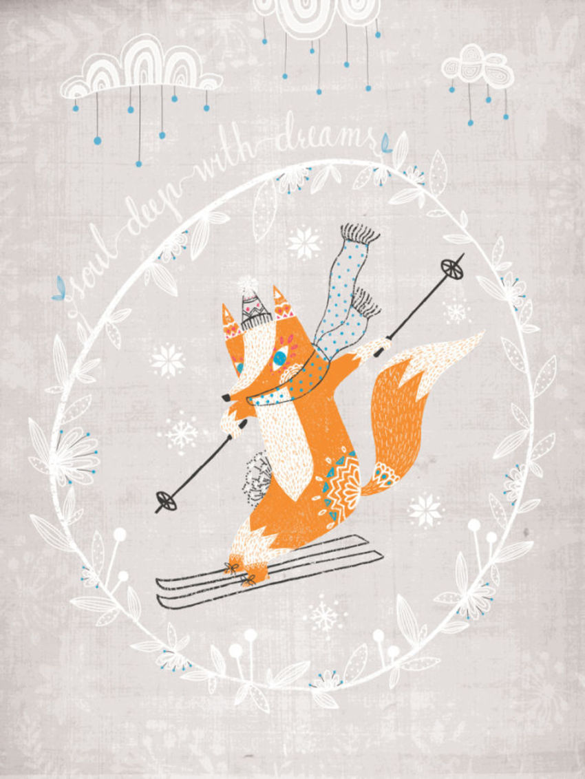Fox On Skiis
