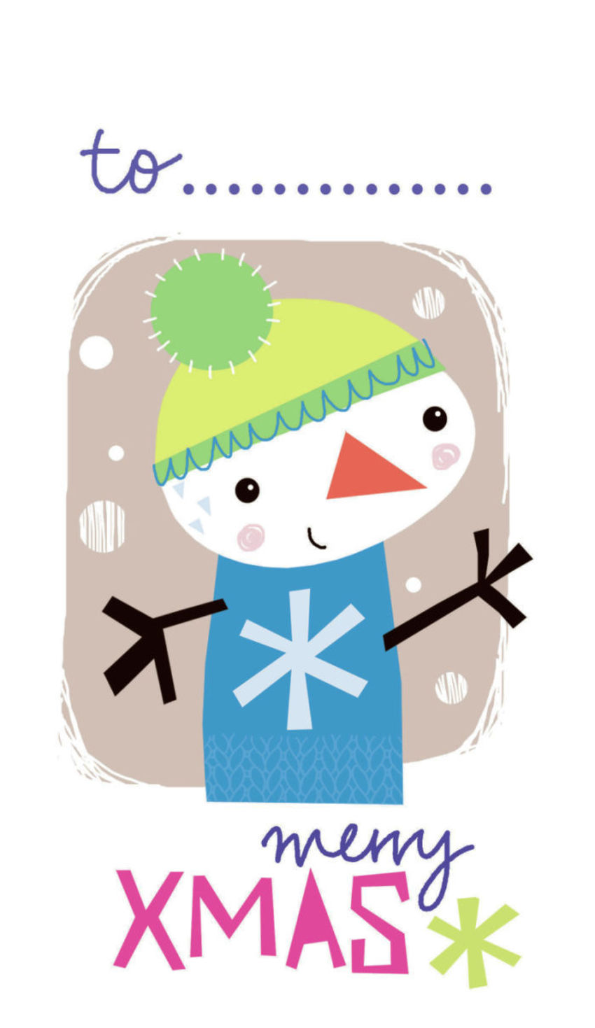 J Schof Snowman Gift Tag 2
