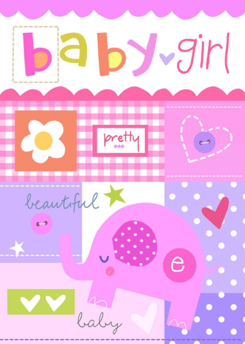 J Schof Elephant Baby Girl Quilt