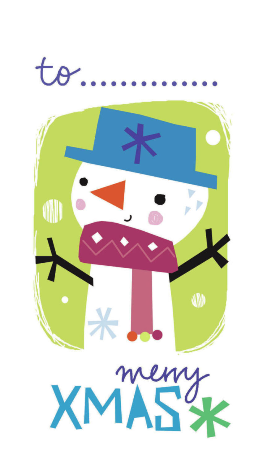 J Schof Snowman Gift Tag 4
