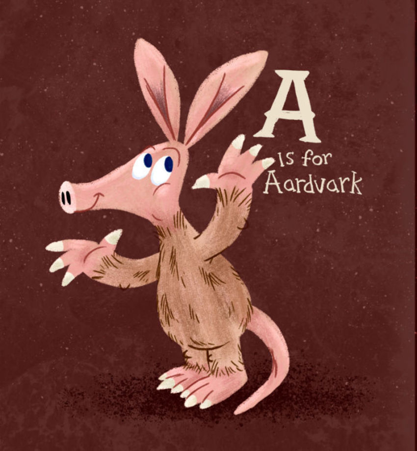 Aardvark With The Letter A