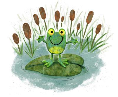 frog-on-lilypad