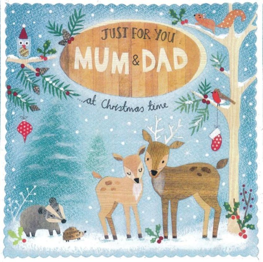 Mum & Dad Christmas Woodland Deer
