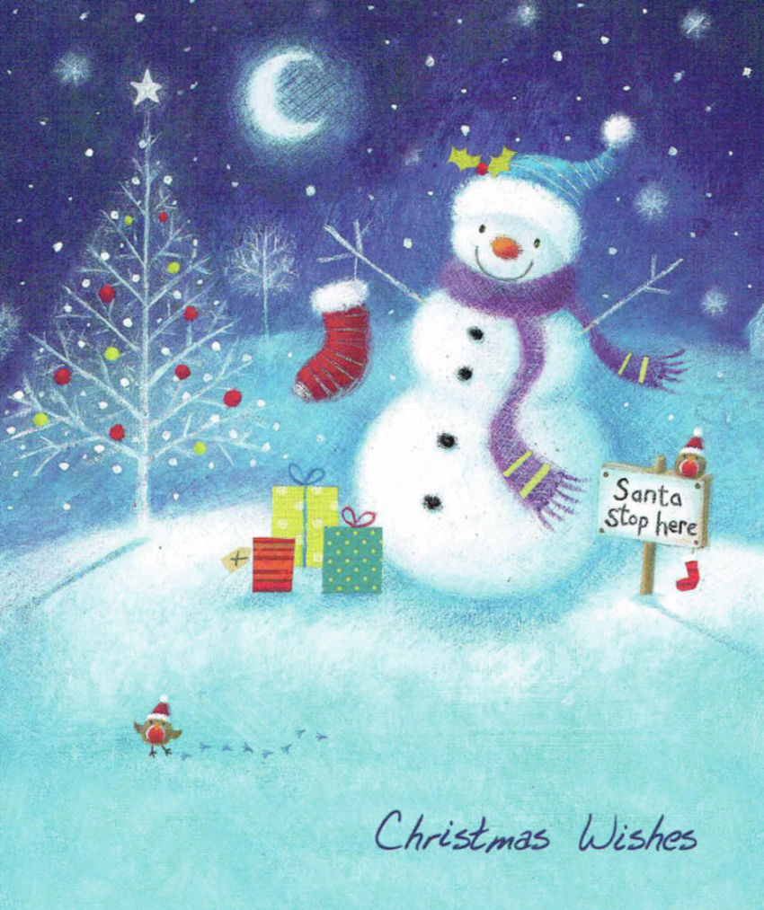 Snowman And Presents