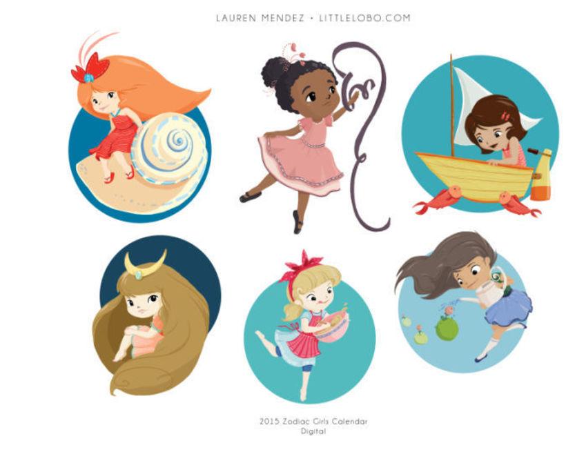 Zodiac Girl Calendar Pg2