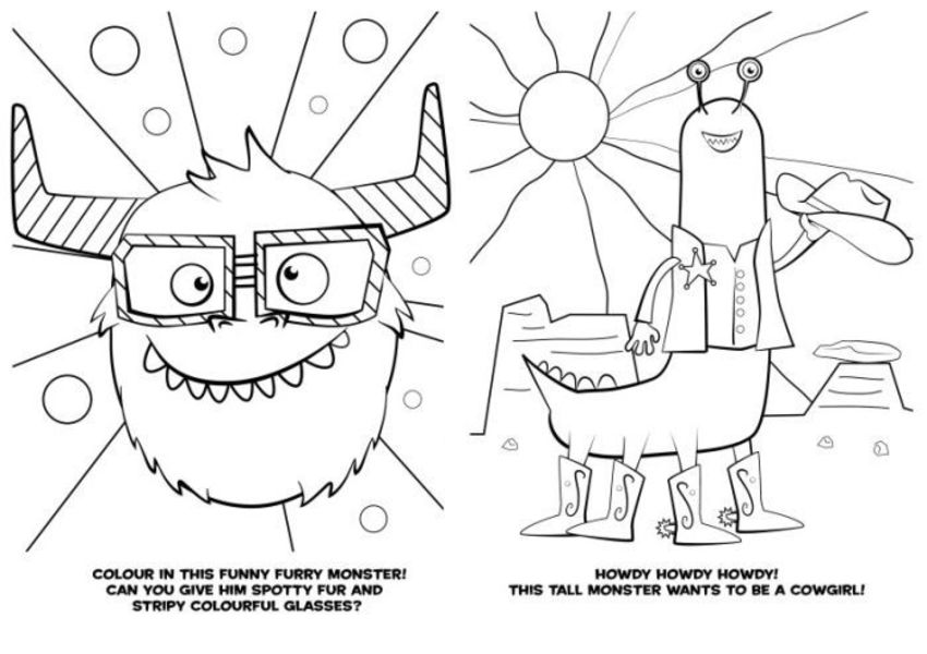 190315 Bw Colouring Monsters Glasses Cowgirl V1-2-02