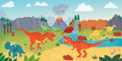 dinosaurs-t-rex-triceratops