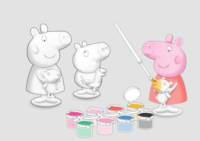 024 Peppa Pig Paint & Craft Plaster Figures V1-1