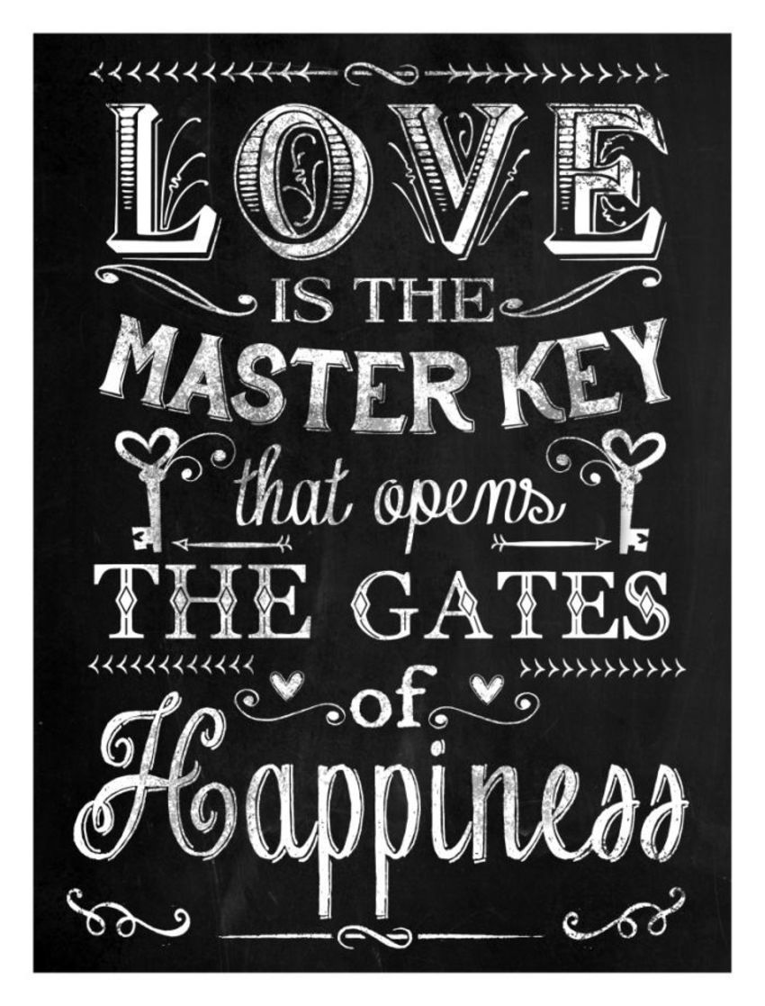 'love' Chalkboard Poster