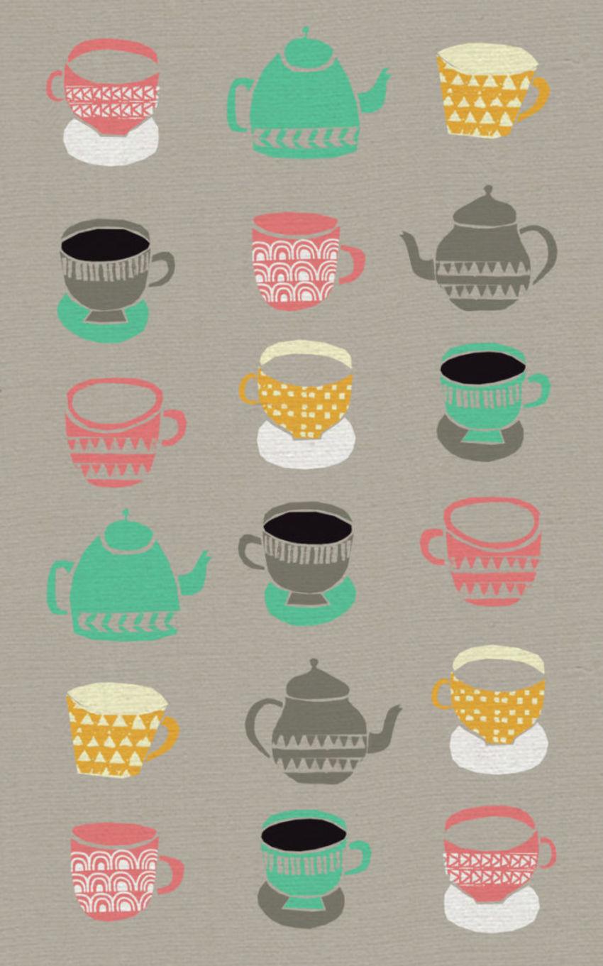 CUPS TEA TOWEL