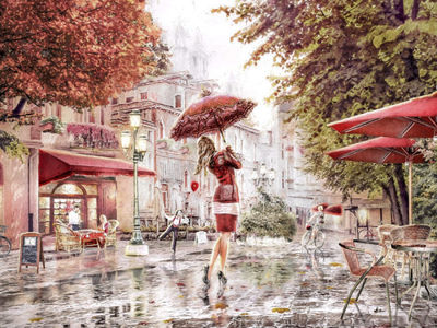 01-val-cafes-streets-happy-rain-60x45