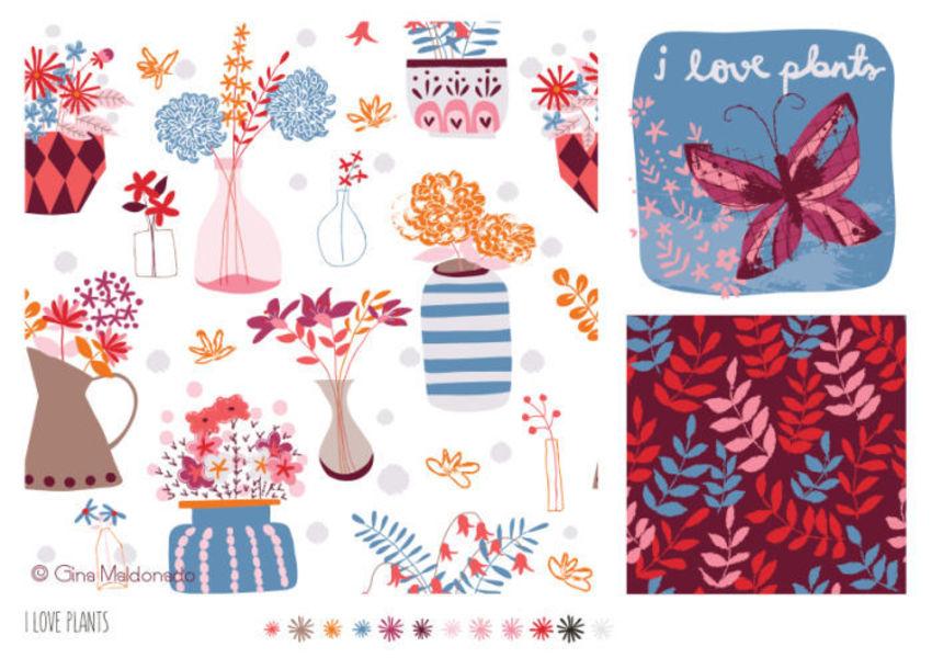 I Love Plants Pattern - GM