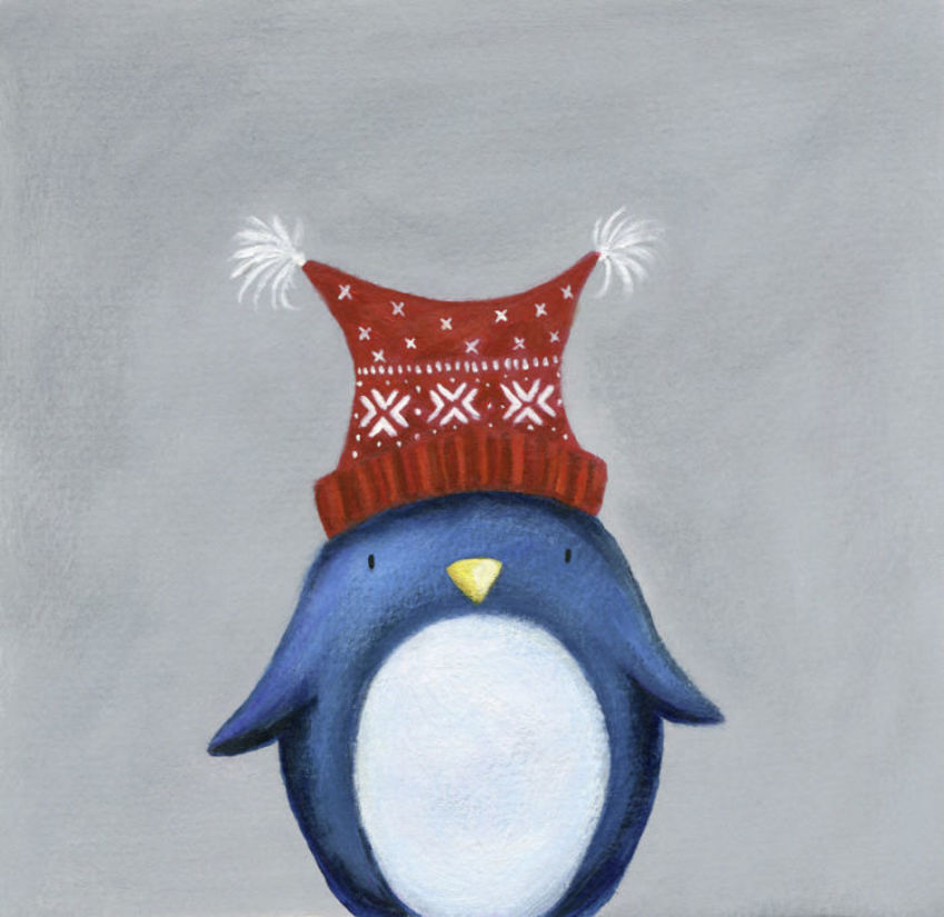 Christmas Penguin Woolly Hat