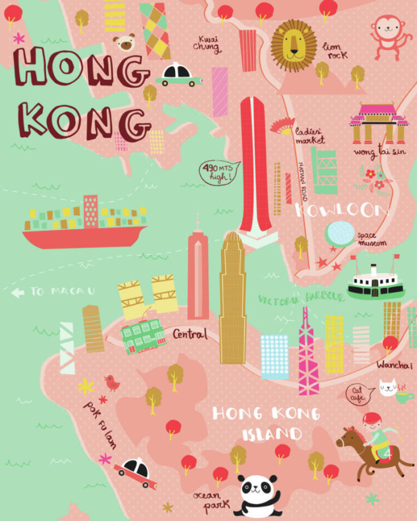 Hong Kong Map - Gina Maldonado
