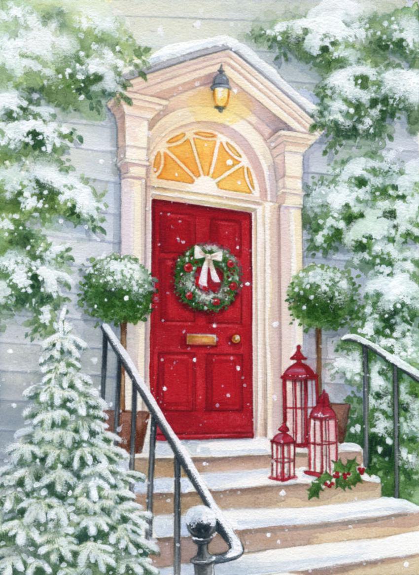 LA -christmas Red Door