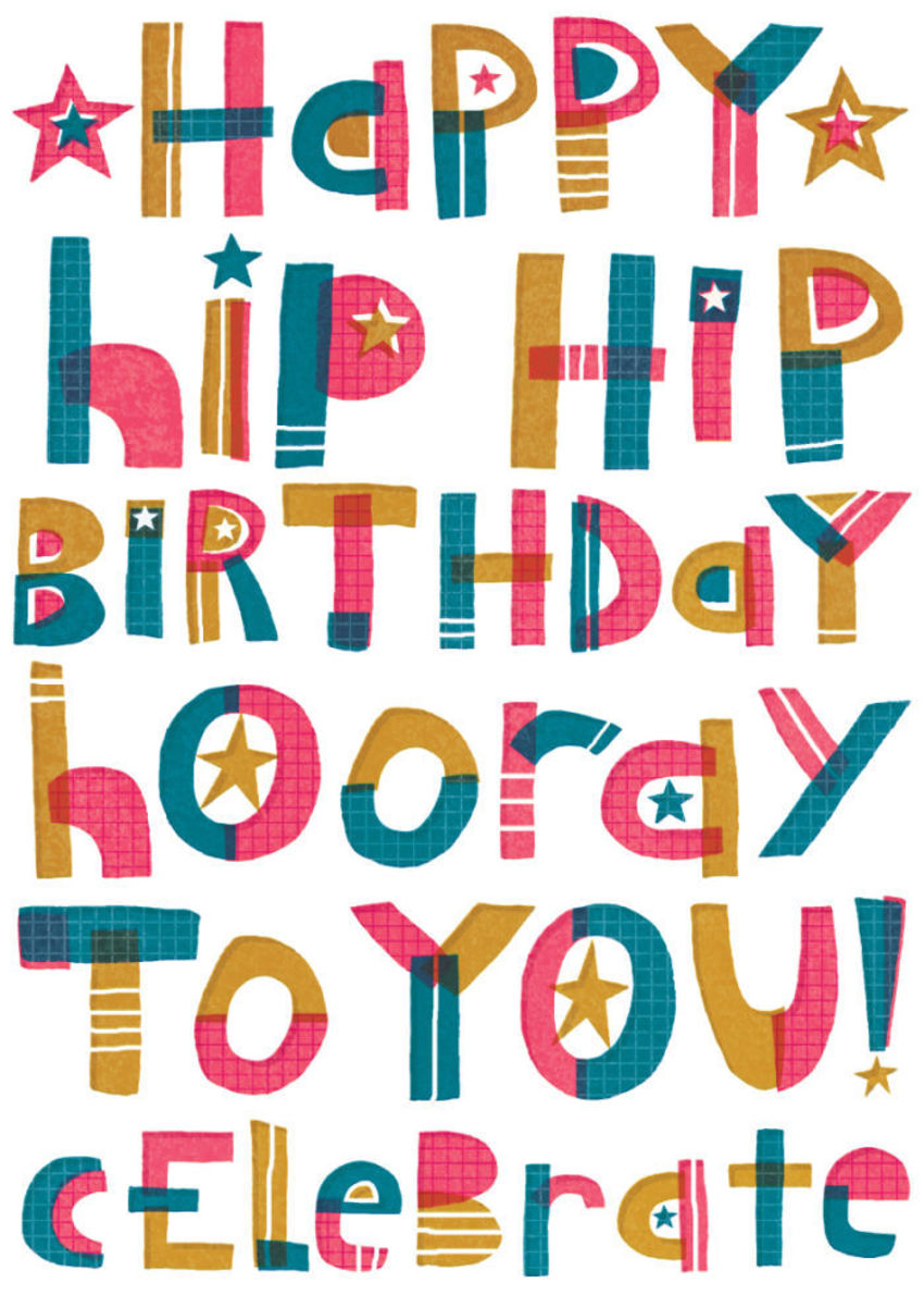 Handdrawn Lettering Birthday RGB