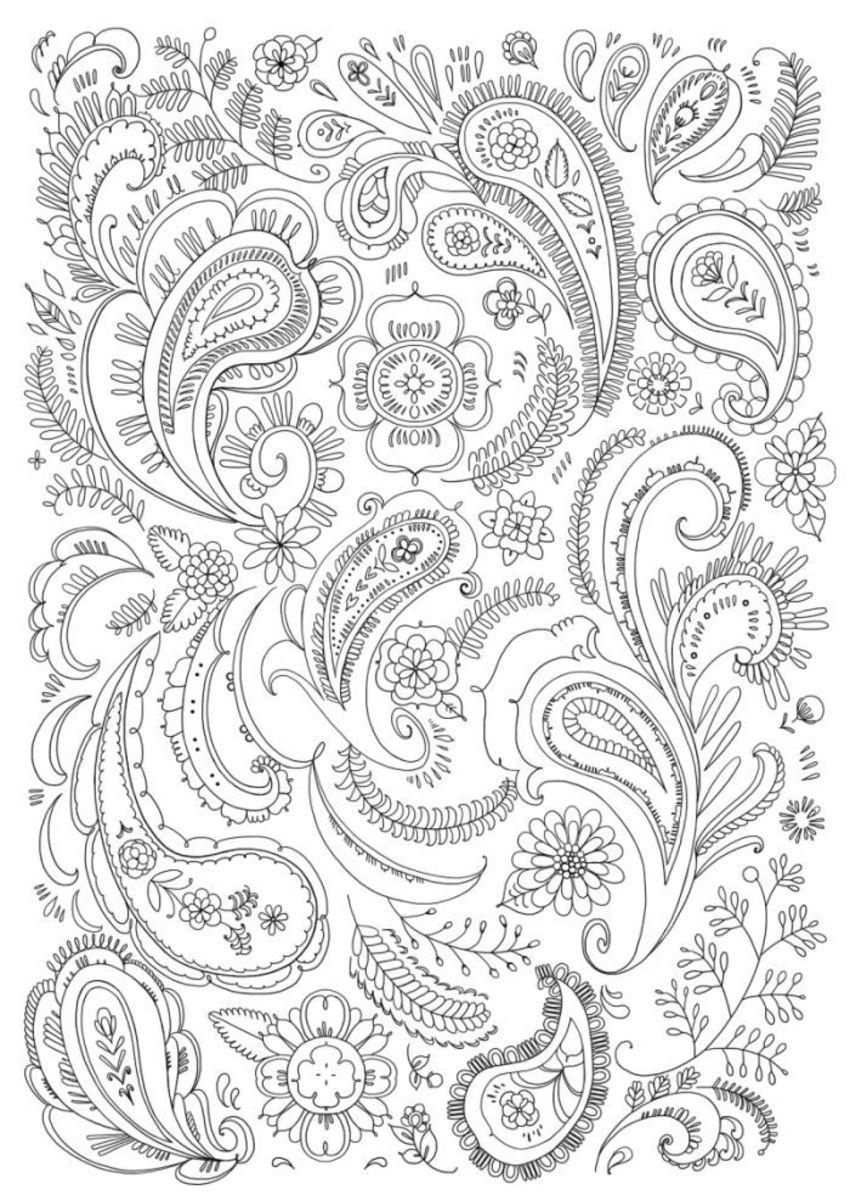Paisley Line Art_1