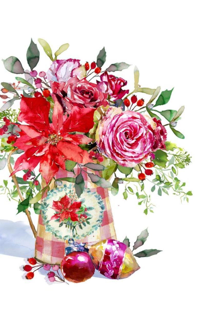 Shab Chic Xmas Roses