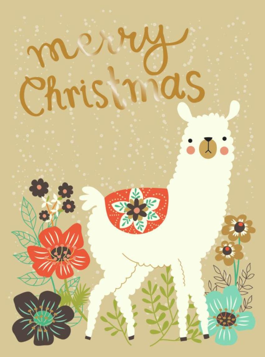 CARDS_14 Alpaca - Merry Christmas - GM