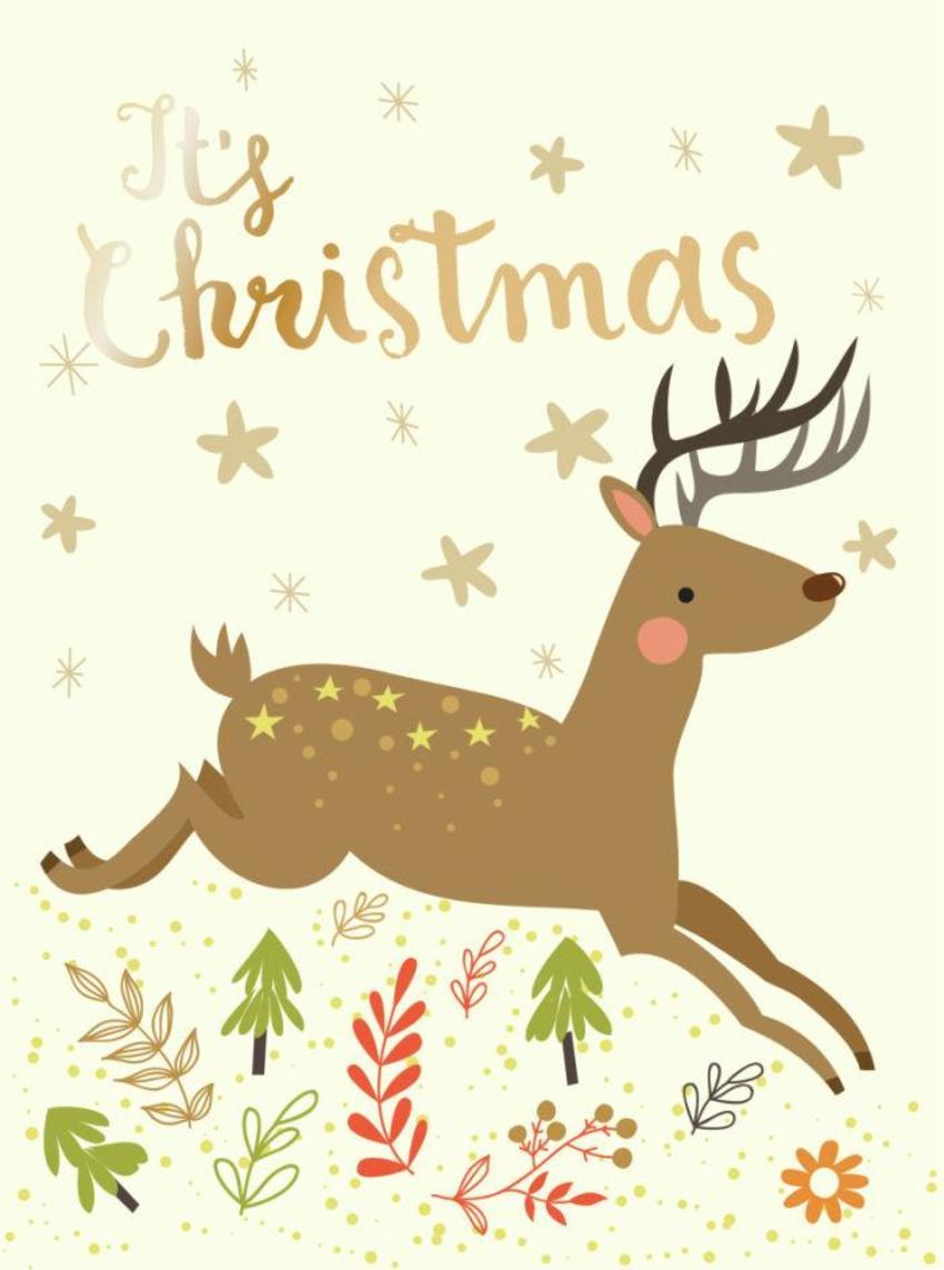 CARDS_06 Deer - It's Christmas - GM