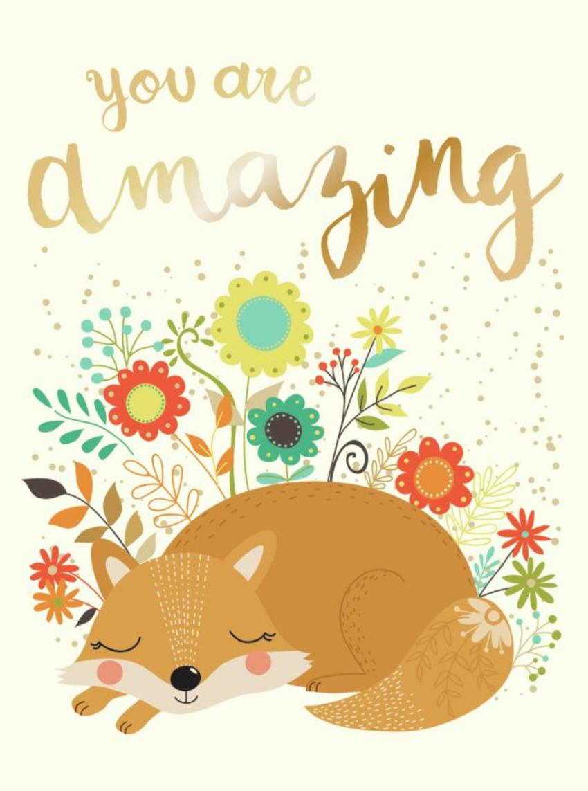 CARDS_03 Fox - You Are Amazing - GM