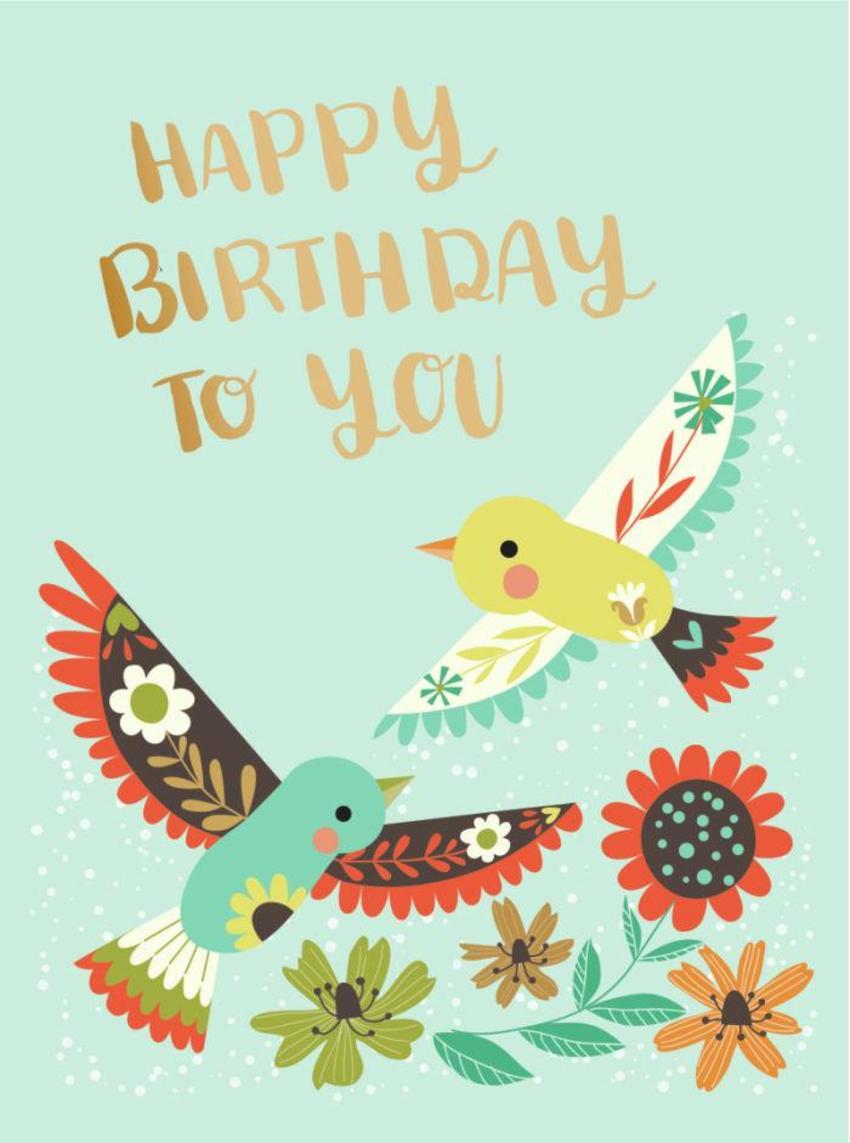 CARDS_04 Birds - Happy Birthday To You - GM