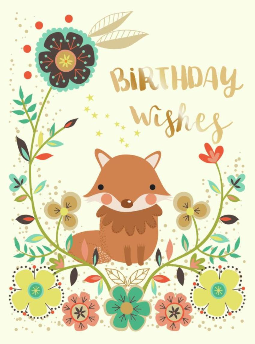 CARDS_21 Fox - Birthday Wishes - GM
