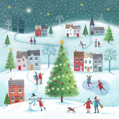 final-teal-sky-christmas-village-scene-flat