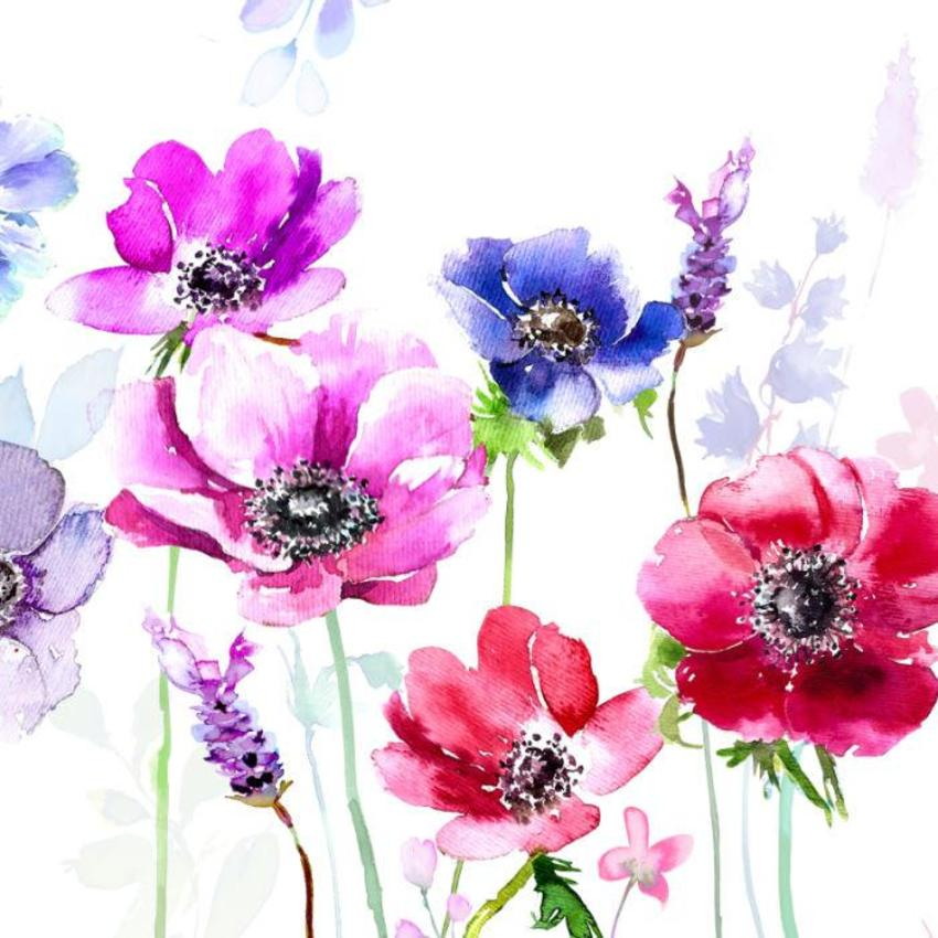 ANEMONES Floral  Layered