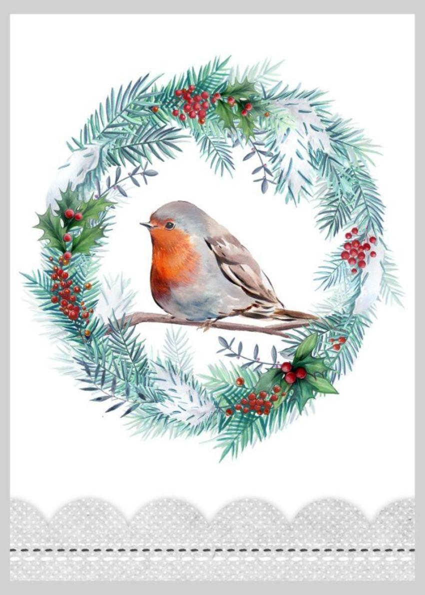 Christmas Robin Wreath Copy