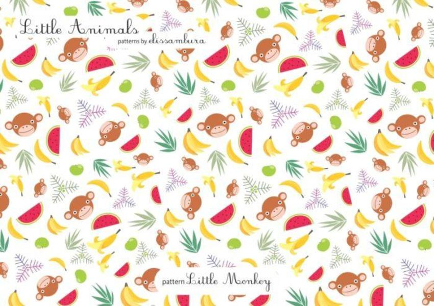 Little Animals Patterns Monkey 02