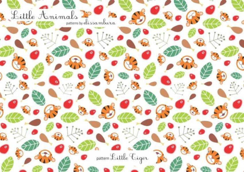 Little Animals Patterns Tiger  02