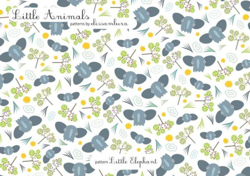Little Animals Patterns Elephant 02