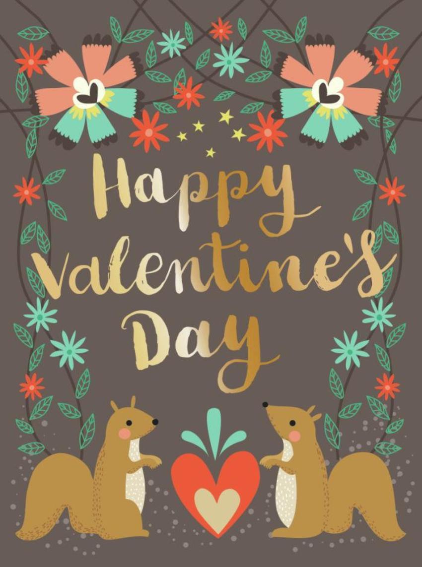 CARDS_23 Squirrels - Happy Valentines Day - GM_23 Squirrels