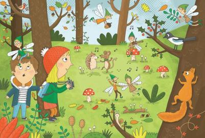 children-forest-party-magic-fairy-animals