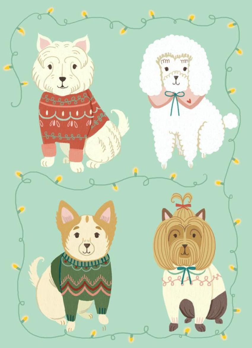 Greeting Card_Christmas_Dogs