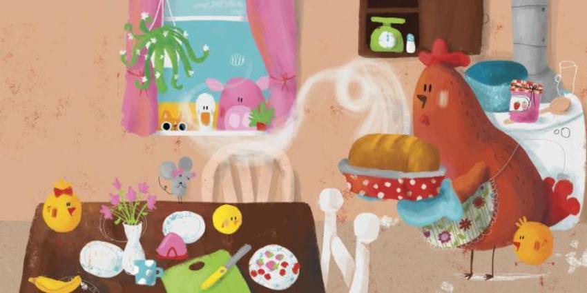 2021Kitchen_Cooking_Mouse_Chicks_LittleRedHen_Fairytale