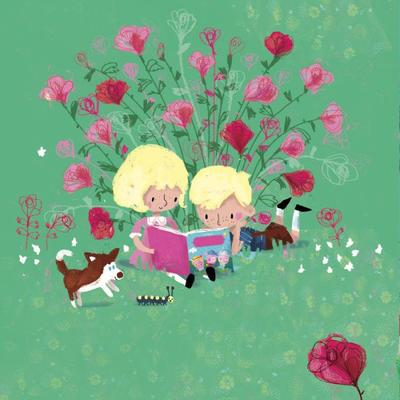 02kids-roses-dog-reading-snowqueen-fairytale