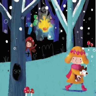 16girl-dog-forest-fire-thieves-snowqueen-fairytale